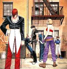 """randomisedgaming:  Cover illustration for the NEO GEO release of:The King of Fighters '97   Art by: Toshiaki Mori """"Shinkiro"""""""