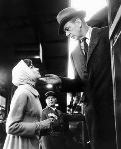 """Audrey Hepburn with Gary Cooper in """"Love in the Afternoon"""", 1957"""