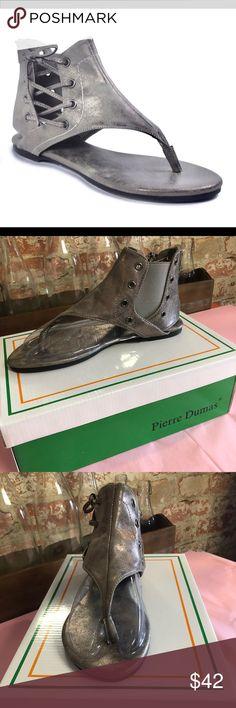 "fdba04d426cf New Pierre Dumas sandals New Pierre Dumas ""Adele-2 Pewter"" sandals Pierre  Dumas Shoes Sandals"