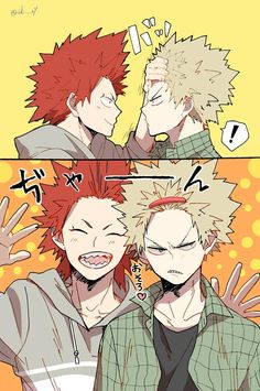 Boku no Hero Academia //Kirishima and Bakugou