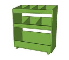 Ana White | Build a General Store Bin Bookshelf | Free and Easy DIY Project and Furniture Plans
