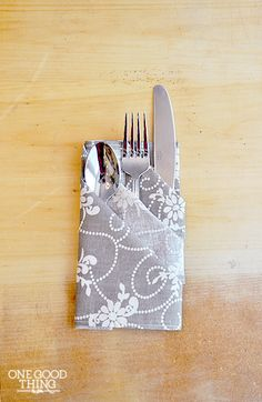A Special Occasion Napkin Fold -- I'll do this for my next dinner party in a few weeks!