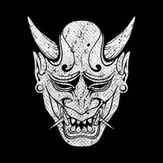 Oni Tattoo, Hannya Maske Tattoo, Tebori Tattoo, Tattoo Samurai, Japanese Demon Mask, Japanese Mask Tattoo, Japanese Oni, Tribal Art Tattoos, Kunst Tattoos