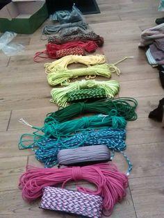 A rainbow of ropes!