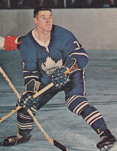 Tim Horton of the Toronto Maple Leafs. Hockey Games, Hockey Players, Ice Hockey, Hockey Baby, Nhl All Star Game, Maple Leafs Hockey, Tim Hortons, Canadian History, National Hockey League