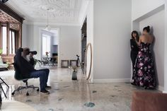Harri Peccinotti shooting Kenza Fourati and Camilla D'Alfonso for #PINKO #backstage #FW15