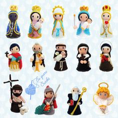 Virgin of Guadalupe crochet! Crochet Hedgehog, Crochet Rabbit, Cute Crochet, Crochet Crafts, Yarn Crafts, Crochet Amigurumi, Amigurumi Patterns, Amigurumi Doll, Doll Patterns