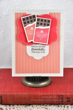 Love You More Than Chocolate Card by Dawn McVey for Papertrey Ink (August 2012)