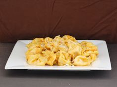 Cheese Tortellini with Pumpkin Alfredo Sauce - The Redhead Baker