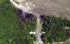 An FBI aerial photograph shows the crash site of hijacked United Airlines Flight 93 in Shanksville, Pennsylvania, on September 12, 2001. The Boeing 757 was headed from Newark, New Jersey, to San Francisco when it made an abrupt turn near Cleveland and veered back east across Pennsylvania before crashing in Shanksville, killing all 44 aboard. Flight 93 was the fourth plane to crash in a coordinated terrorist attack that included New York's World Trade Center and the Pentagon, and the only one…