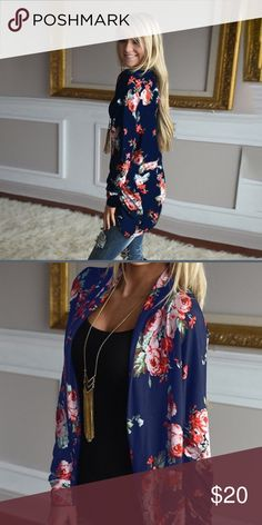 Floral Cardigan - Small Brand new floral Cardigan - perfect for Spring! light weight, silky fabric adds a flirty touch to this Boho style top. Let me know if you have any questions! Sweaters Cardigans