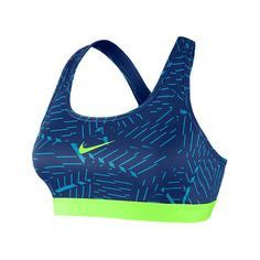 Nike Women's Pro Classic Bash Sports Bra, Blue ($20) ❤ liked on Polyvore featuring activewear, sports bras, blue, nike activewear, nike sportswear, nike, nike sports bra and blue sports bra