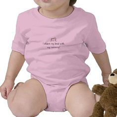 I share my bed with my mummy! baby bodysuit