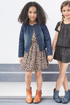 Buy Denim Quilted Collarless Jacket (3-16yrs) from the Next UK online shop