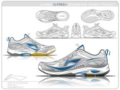 5a13291c1185 Li-Ning Badminton Shoes G-Free+