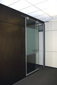 Office Designs - Teknion Altos Barn Door and Wood Panels