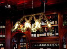 Suspension Lamp Wine Bottles Pendant Light by ZALcreations on Etsy, $465.00