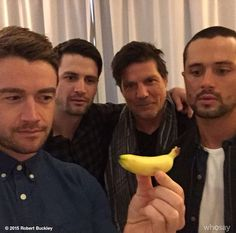 Robert Buckley, James Lafferty, Paul Johansson and Stephen Colletti - Oth in Paris