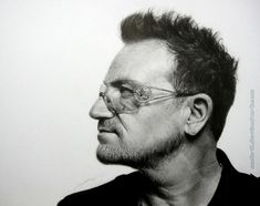 Bono Vox photographed by Peter Hapak. Widows Peak Hairstyles, Bono Vox, Cowlick, Realistic Pencil Drawings, Amazing Drawings, Widow's Peak, Malcolm X, Photographer Portfolio, Best Portraits