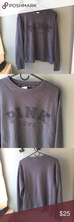 VS sweatshirt Grey VS PINK hopeless pull over sweatshirt. In new co diction. Fits closer to a M PINK Victoria's Secret Sweaters