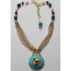 Silver Jadau Necklaces