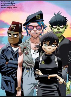 They all look so dead inside well actually 2D looks like he's going to murder someone but I don't know maybe that's just me.