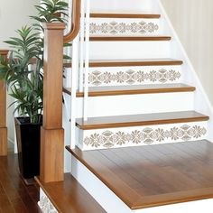Brand: Wallpops Item: Rock the Kasbah decal set - I love the stencil on the stairs - would make our entryway pop!