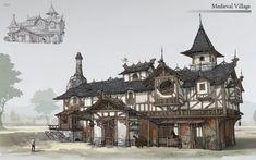 ArtStation - medieval building, Arto Hong