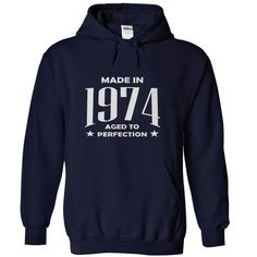 Made in 1974 T-Shirts, Hoodies. Check Price Now ==► https://www.sunfrog.com/Birth-Years/Made-in-1974-NavyBlue-Hoodie.html?id=41382