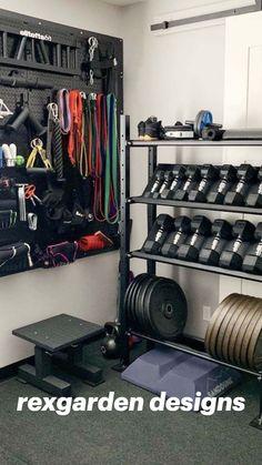 Home Gym Basement, Home Gym Garage, Diy Home Gym, Gym Room At Home, Home Gym Decor, Best Home Gym, Garage House, Basement Workout Room, Workout Room Home