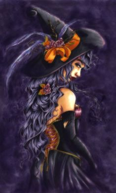 "chasingrainbowsforever: "" Witch ~ Purple and Orange "" Happy Halloween!"