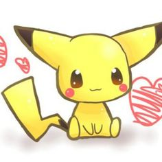 Dibujos de Pikachu Kawaii para dibujar, colorear, imprimir y recortar