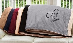 Groupon - Personalized Sherpa Embroidered Throw Blankets . Groupon deal price: $24.99