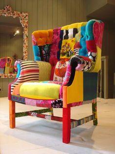 Sofás, chaiselongues y sillones tapizados en patchwork