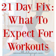 Curious about the workouts for 21 Day Fix? Check out this post to get more info and short videos on some of the moves. | at home workouts | 21 day fix exercise | postpartum fitness | plus size fitness