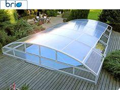 Abri de piscine telescopique - Haut de gamme -Design