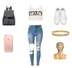 """""""FINALLY GOT MY PW BACK!"""" by pinky3000 ❤ liked on Polyvore featuring Alexander Wang, Yves Saint Laurent and Cartier"""