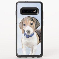 Beagle Painting - Cute Original Dog Art OtterBox Symmetry Samsung Galaxy S10+ Case  pocket beagle puppy, golden labrador puppy, basset hound puppy #beagle #cats #catdogs, back to school, aesthetic wallpaper, y2k fashion Pocket Beagle Puppies, Hound Puppies, Basset Hound Puppy, Beagle Art, Beagle Funny, Woodstock, Golden Labrador Puppies, Puppy Playpen, Handmade Dog Collars