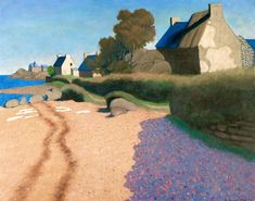 Paysage à Loguivy' (Landscape at Loguivy), by Felix Vallotton, oil on canvas, 1925. Tumblr, Post Impressionism, Wassily Kandinsky, French Artists, Landscape Paintings, Landscapes, New Art, Abstract Art, Abstract Landscape
