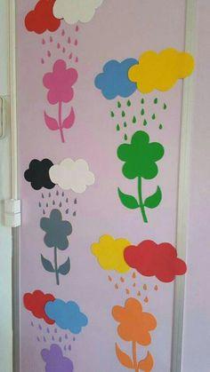 "The post ""Preschool Colors"" appeared first on Pink Unicorn Mischen Preschool Classroom Decor, Preschool Colors, Classroom Board, Kindergarten Activities, Preschool Crafts, Preschool Activities, School Board Decoration, School Decorations, Art For Kids"
