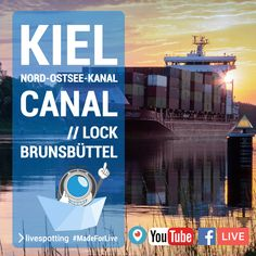 Webcam 🛳 Kiel Canal at Brunsbuettel Lock in Germany Marine Traffic, Live Stream, Ab Sofort, Youtube, Germany, Movie Posters, Kiel, North Sea, Film Poster