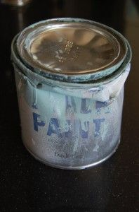 """""""When your paint lid will not close and it has dried bits of paint on it, don't continue to store the paint in the container. Transfer it to a canning jar or another sealed container."""""""