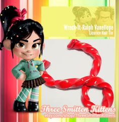 Vanellope's Hair Pins by ThreeSmittenKittens on Etsy--Vanellope costume