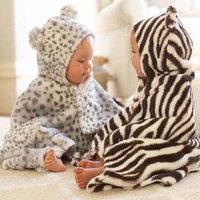 Animal Print Nursery Bath Wraps