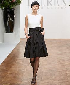 Lauren by Ralph Lauren Dress, Pleated Cocktail Dress - Dresses - Women - Macy's