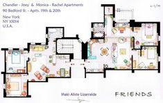 Floor plan of the house of the American popular drama had happened. Floor plan of the popular Japanese anime and manga have become like this.