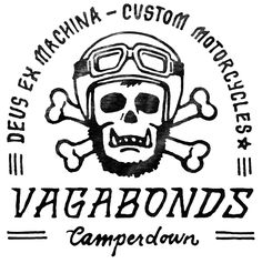 Apparel designs for the Australian custom motorcyle company, Deus Ex Machina. #illustration #design #motorcycles #motos | caferacerpasion.com