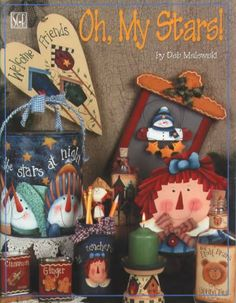 Revista country Oh! My stars - Anros - Picasa Web Albums Arte Country, Pintura Country, Christmas Books, Christmas Crafts, Tole Painting Patterns, Paint Patterns, Cow Painting, Country Paintings, Painted Books
