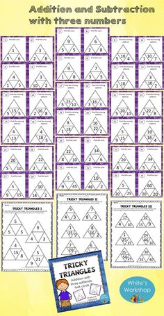 addition with three numbers task cards  www.teacherspayte...
