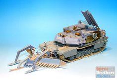 DEFDM35018 1:35 DEF Model USMC M1 Abrams ABV with Mine Plow Conversion Set